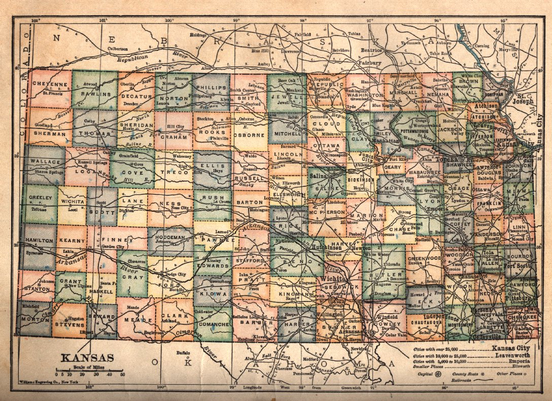 Map C - Map of kansas