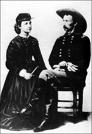 Libbie and George Armstrong Custer